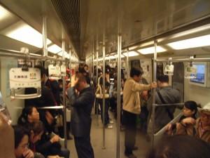 Shanhai subway just before rush hour!